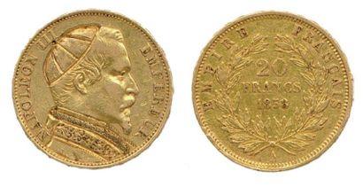 Monnaie satirique 20 Francs en or représentant...