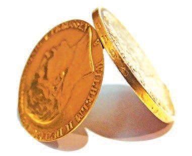 Monnaie-boîte à secret avec bélière. 20 mark...