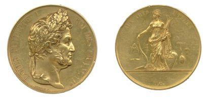Médaille en or à l'effigie de LOUIS-PHILIPPE...