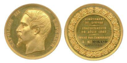 Médaille en or à l'effigie de NAPOLÉON III...