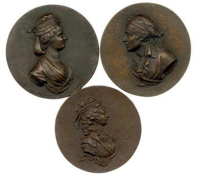 Lot de trois fontes postérieures en bronze...