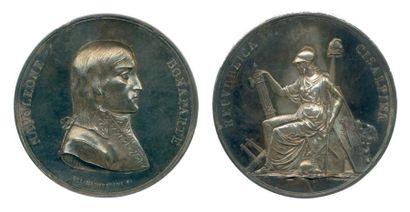 Médaille en argent frappé à Milan en souvenir...