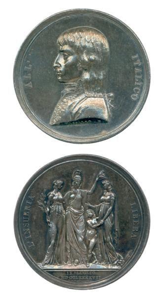 Médaille en argent frappé à Milan pour la...