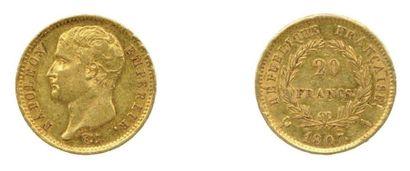 Une pièce de 20 Francs Napoléon Ier (type...