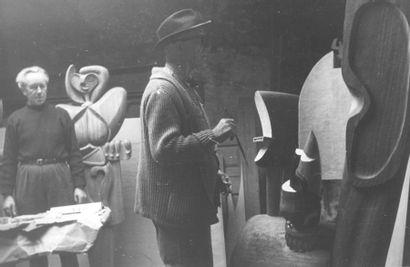 LE CORBUSIER (CHARLES-EDOUARD JEANNERET DIT) (1887-1965) Ozon, Opus I, 1947 Bois...
