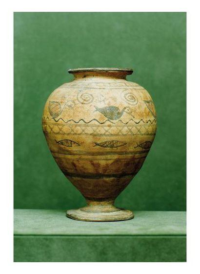 Égypte, époque Copte. VASE. Terre cuite,...