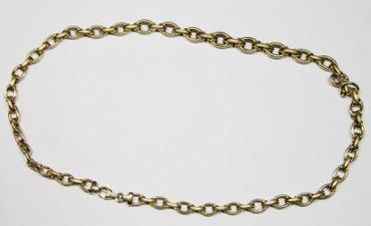 DEMI PARURE en or jaune composée d'un bracelet...