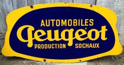 Plaque émaillée «Automobiles Peugeot Production...