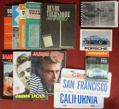 Lot de 5 revues techniques; 3 livres James...