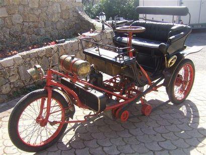 1902 ACHE FRERES Type: TM Châssis N° TMP2 Puissance fiscale: 5 CV Moteur: monocylindre...