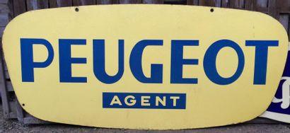 Plaque émaillée «Peugeot Agent»