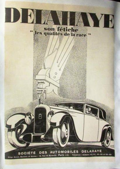 Affiche entoilée de Delahaye par René Ra...