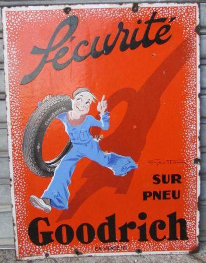 Plaque émaillée Pneu GOODRICH, GEO HAM, double...