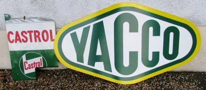 Lot de 2 plaques: YACCO et CASTROL