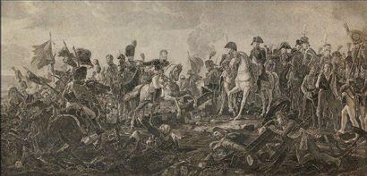 Baron GERARD, d'après «La Bataille d'Austerlitz» Grande gravure par J.Godefroy en...