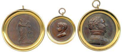 Lot de trois médailles en bronze du XiXe...