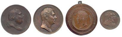Lot de quatre médailles en bronze du XIXe...