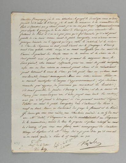NAPOLÉON Ier. Lettre signée «Napole», adressée...