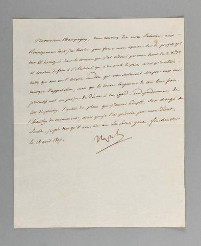 NAPOLÉON Ier. Lettre signée «Napole» à Jean-Baptiste...