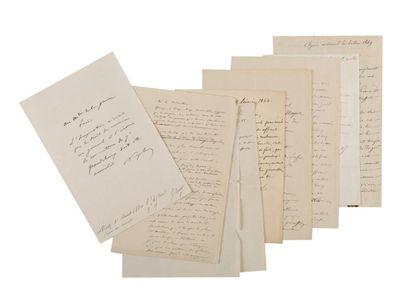 NAPOLÉON III. Ensemble de 8 lettres et pièces....