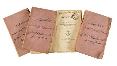 SCOTT Walter Le Monastere. Paris, Librairie Henri Nicolae, 1820; 4 vol. in-12 brochés...