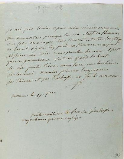 BESSIÈRES (Jean-Baptiste) Correspondance de 138 lettres, 1805-1813, soit 135 lettres...