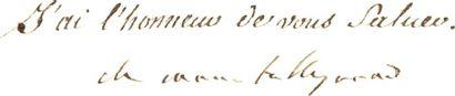 TALLEYRAND (Charles-Maurice de)