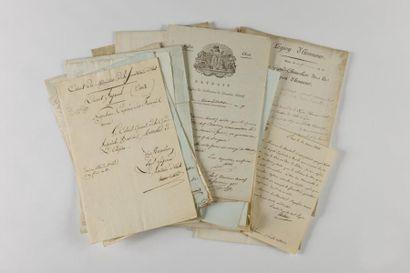 [BESSIÈRES (Jean-Baptiste)] Ensemble d'environ 30 lettres et pièces dont 3 signées...