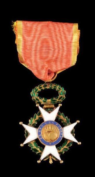 Ordre de Saint-Ferdinand, créé en 1811. Croix...