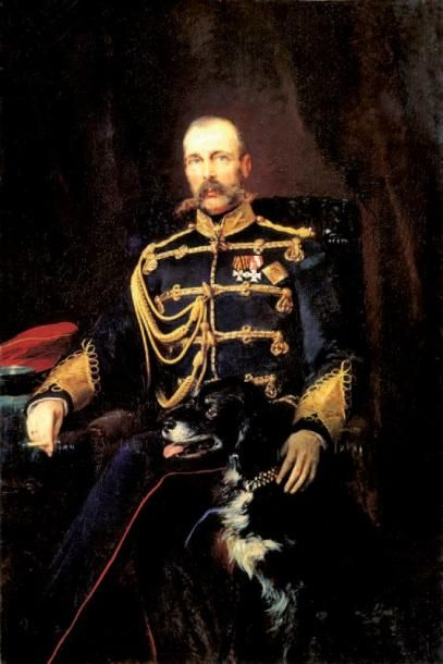 Le tsar Alexandre II de Russie. Etui à cigares et à cigarettes en cuir de Russie...