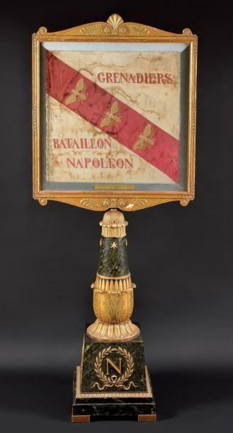 Rarissime et unique drapeau des Grenadiers du Bataillon Napoléon à l'Ile d'Elbe...