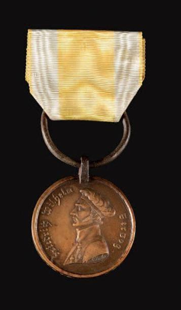 Brunswick (états allemands) Médaille de waterloo,...
