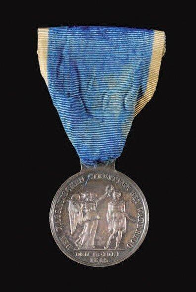 Nassau (États allemands) Médaille de Waterloo,...