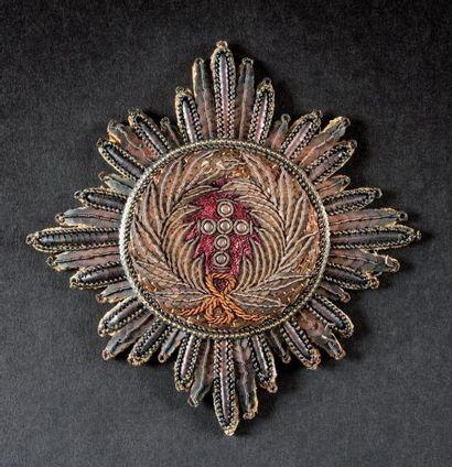 Ordre de l'Élephant, institué en 1693. -Plaque de chevalier de l'empereur Napoléon...