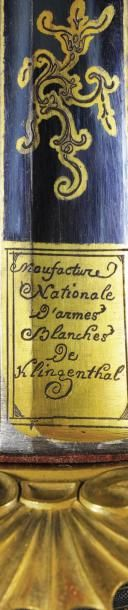 Rare sabre d'officier d'état-major de la «Manufacture impériale de Versailles Boutet...