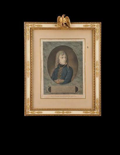 «Le Genéral Bonaparte An 6 (1798)». Gravure...