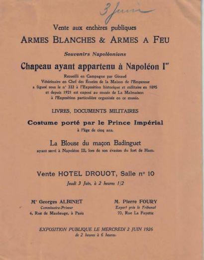 Légendaire chapeau de l'empereur Napoléon Ier, de forme traditionnelle dite à la...