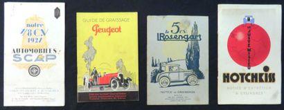 Catalogue «SCAP» 1927, guide de graissage...