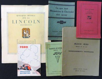 Catalogues «Quelques détails sur la LINCOLN»,...