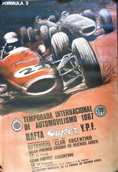 Affiche «Temporada Internacional de Automovilismo...