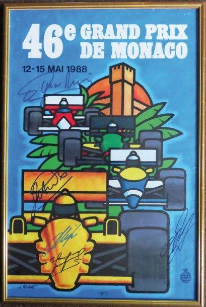 Affiche du 46ème Grand Prix de Monaco Mai...