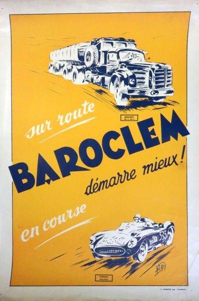 Rare Affiche BAROCLEM, dim 55 x 37 cm, e...