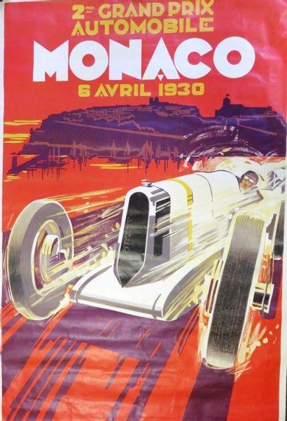 Affiche du Grand Prix de Monaco 1930 (rééditée),...