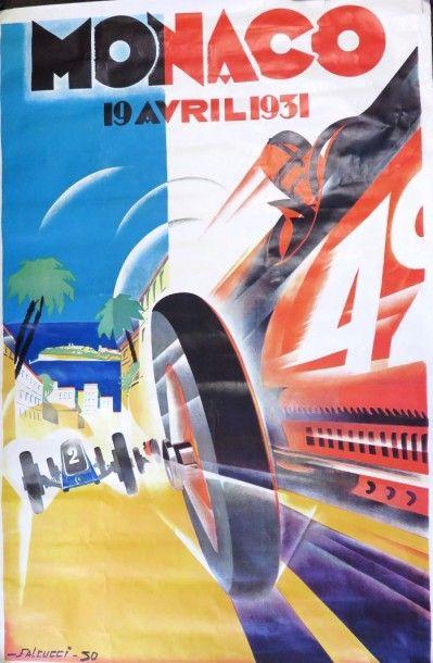 Affiche du Grand Prix de Monaco 1931 (rééditée),...