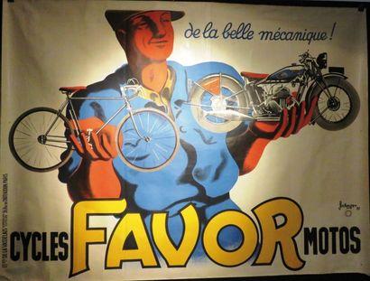 Très rare Affiche FAVOR, grand format (état...