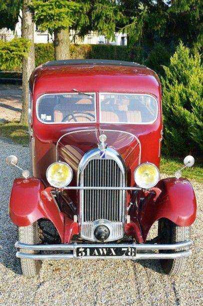 1931 TALBOT 6 PlACES tYPe N75 moteur n° 23431 Châssis n° 77333 seul exemplaire recensé...