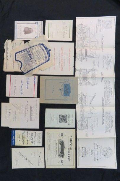 Lot de catalogues divers (Zeller, Unic, Th...