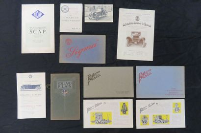 Lot de catalogues divers (SCAP, Sigma, Roland...