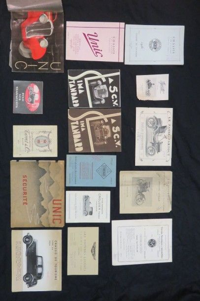 Lot de catalogues divers (Unic, Stella,....