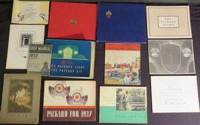 Lot de catalogues PACKARD